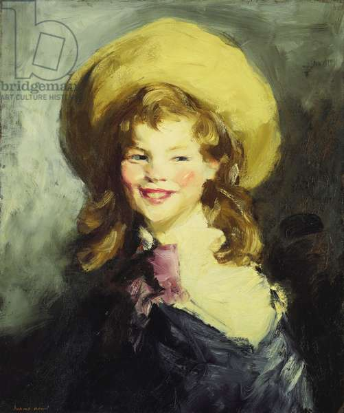 Girl with Big Hat,  (oil on canvas)