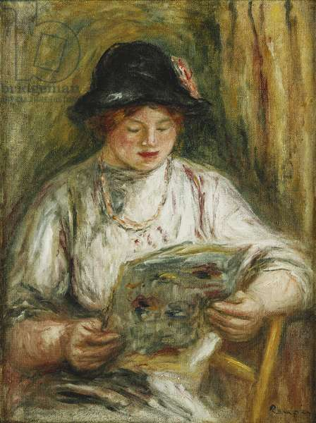 Woman Reading; Femme Lisant, c.1910-12 (oil on canvas)