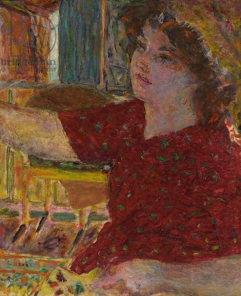 Young Woman Painting; Jeune Femme Peignant, 1944 (oil on canvas)