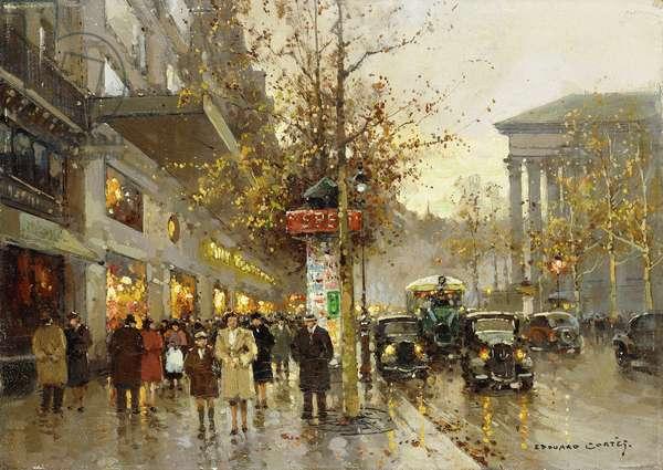 La Madeleine, Paris, (oil on canvas)