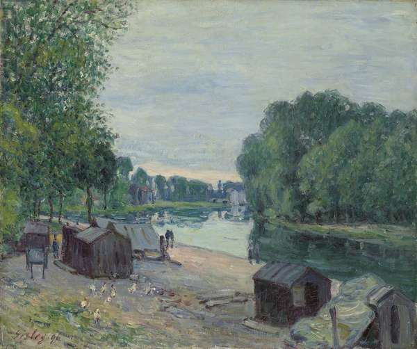 Huts at the Edge of the Loing; Cabanes au bord du Loing, 1896 (oil on canvas)