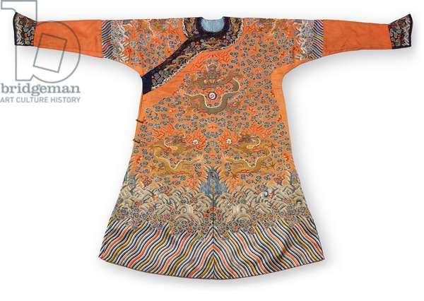 Formal court robe, Qing Dynasty, Jifu China, mid 19th century (silk)