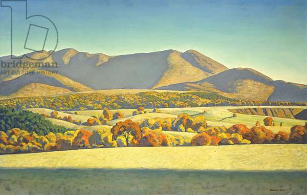 Kelly's Basin, Jay Mountain, (oil on canvas)