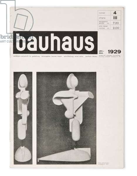 Number 4, Volume 3 of the 'Bauhaus' magazine, 1929 (lithograph)