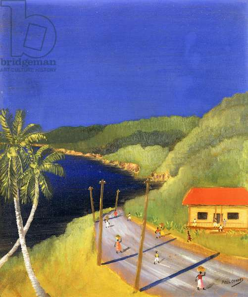 Road to the Sea, Jamaica,  (oil on canvas)