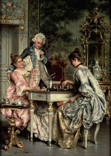 The Game of Chess (oil)