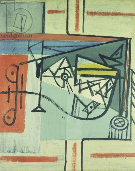 Abstract, 1937 (oil on panel)