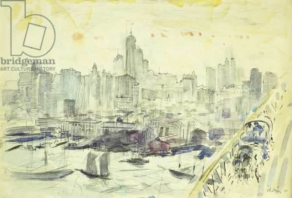 Vicinity Brooklyn Bridge, 1910 (oil on canvas)
