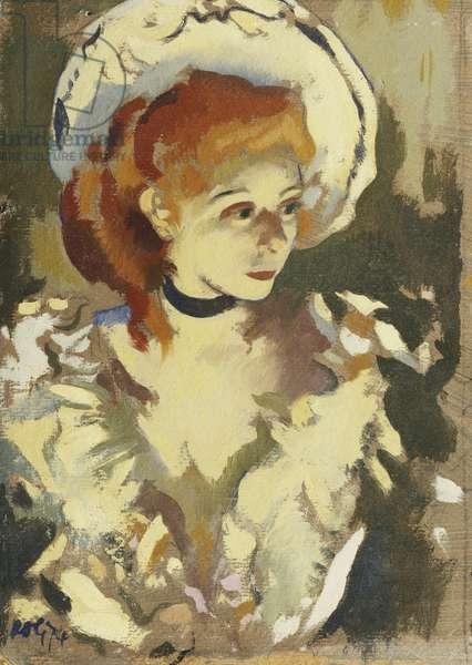 Parisian Girl, 1974 (oil on board)