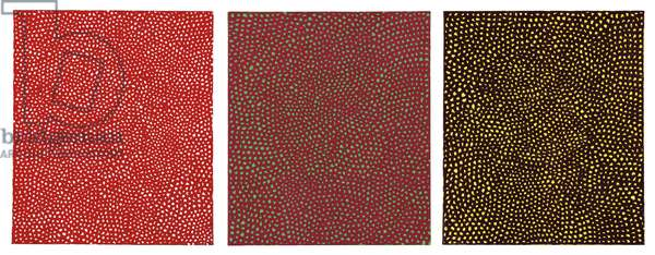 Accreations I, 1967 (oil on canvas, in three parts)