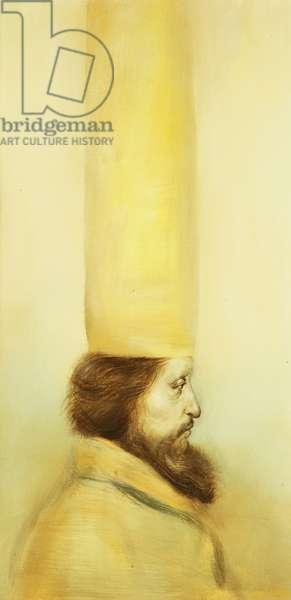 Profile Portrait; Retrato de Perfil (oil on canvas)