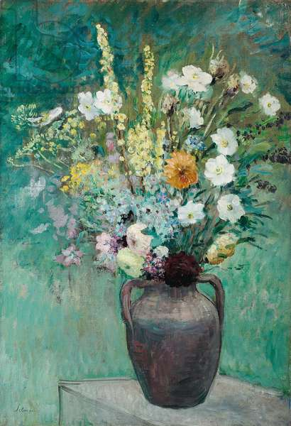 Vase of Flowers, c. 1913-1914 (oil on canvas)