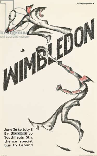 Wimbledon 1933 (colour litho)