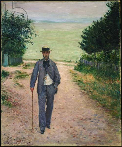 Stroller by the Sea; Promeneur au Bord de la Mer, 1885 (oil on canvas)