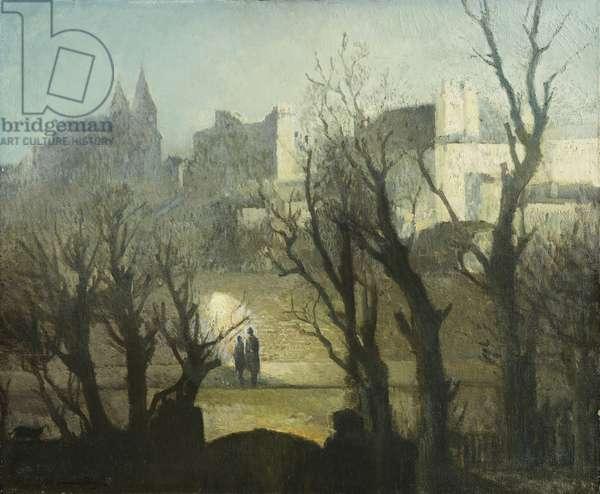 Sunday Night St. John's Wood, (oil on canvas)