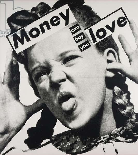 Untitled (Money Can Buy you Love), 1985 (gelatin silver printin artist's frame)