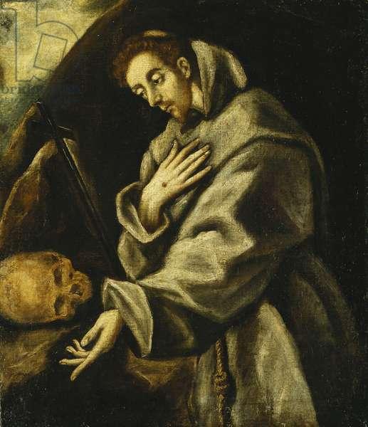 Saint Francis in Meditation, (oil on canvas)