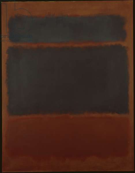 Black in Deep Red, 1957 (oil on canvas)