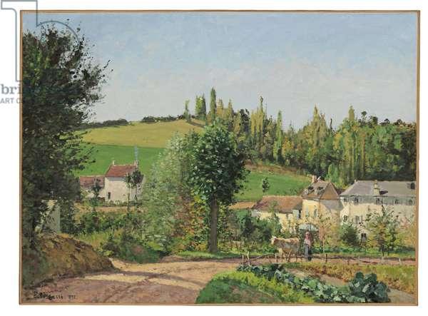Hamlet near Pontoise, 1872 (oil on canvas)