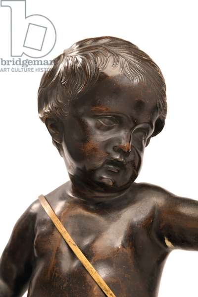 Standing child carrying a bow and quiver, mid 17th century (bronze with gilding & tortoiseshell)