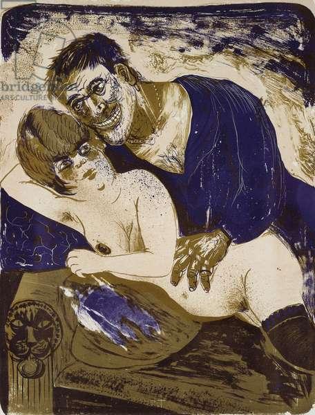 Seaman and Girl; Matrose und Madchen, (lithograph)
