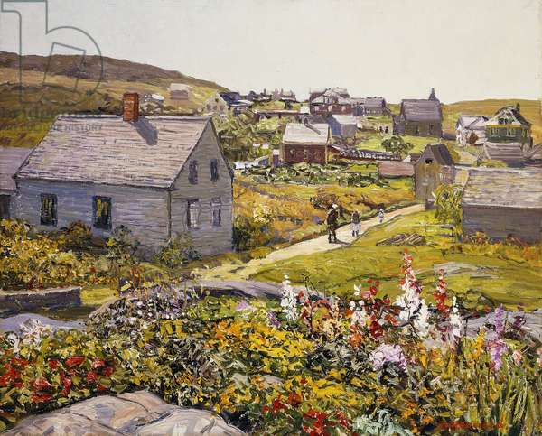 Monhegan Village, (oil on canvas)