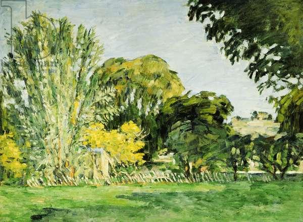 Trees at Jas de Bouffan (oil on canvas)