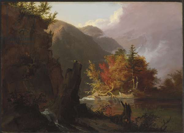 View in Kaaterskill Clove, 1826 (oil on panel)