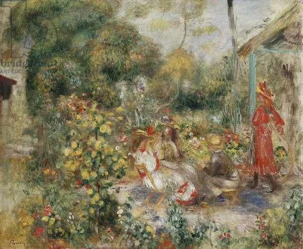 Girls in a Garden in Montmartre; Fillettes dans un Jardin a Montmartre, c.1893-5 (oil on canvas)