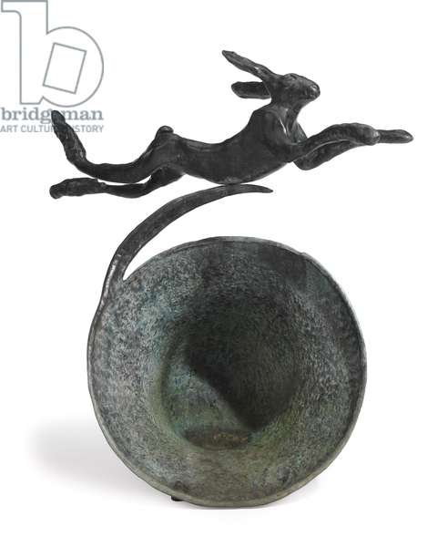 Hare on Curly Bell, 1980 (bronze)