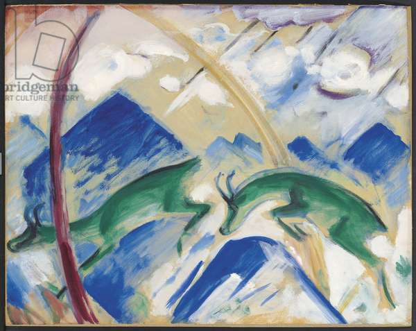 Chamois, 1911 (tempera on paper laid down on board)