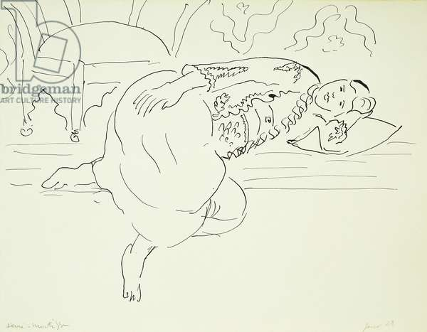 Odalisque, 1928 (pen and india ink on paper)
