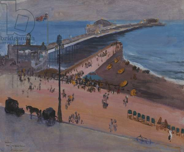 Brighton from the Royal Albion, 1936 (oil on canvas-board)
