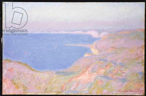 On the Cliffs near Dieppe, Sunset, 1897 (oil on canvas)