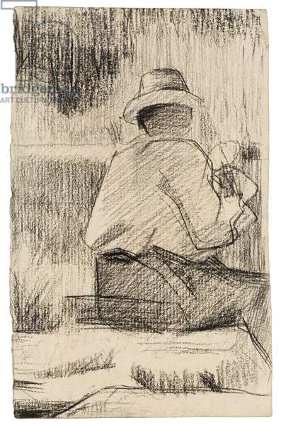 The Painter and His Palette; Le Peintre a la palette, c.1881 (crayon on paper)