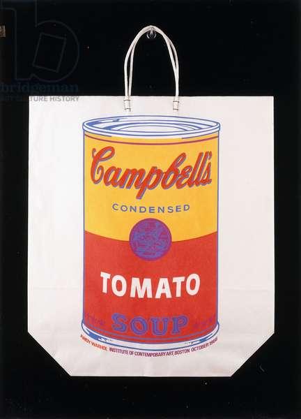 Campbell's Soup on Shopping Bag, 1966 (screenprint, shopping bag)
