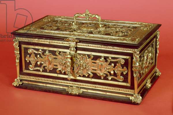 Renaissance silver-gilt-mounted ebony jewellery casket set with enamelled gold plaques, c.1575 by Christopher Lancker and David Altenstetter of Ausburg