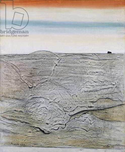 The Sea; La Mer, 1925 (oil on canvas in the artist's cork frame)