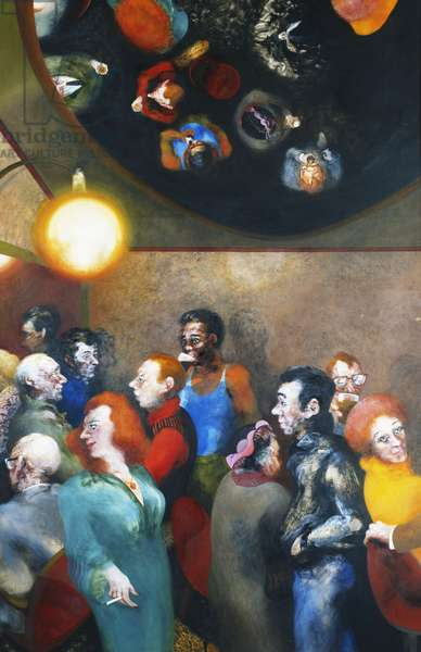 Mirror Bar, 1979-80 (oil on canvas)