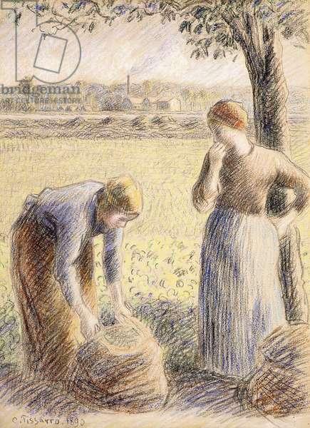 The Pickers; La Cueillette, 1890 (pastel on paper)