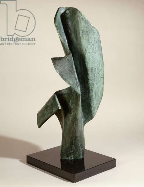 Vertical Form, 1962 (bronze with green patina)