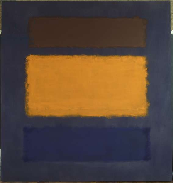 Brown, Orange, Blue on Maroon, 1963 (oil on canvas)