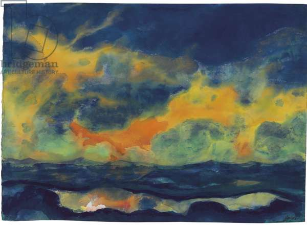 Autumn Sky over the Sea, c.1940 (watercolour on Japan paper)
