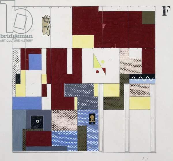 Tapisserie Chandigarh, 1955 (gouache, pencil and collage on paper)