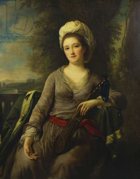 Portrait of a Lady, thought to be Mrs Wells (oil on canvas)