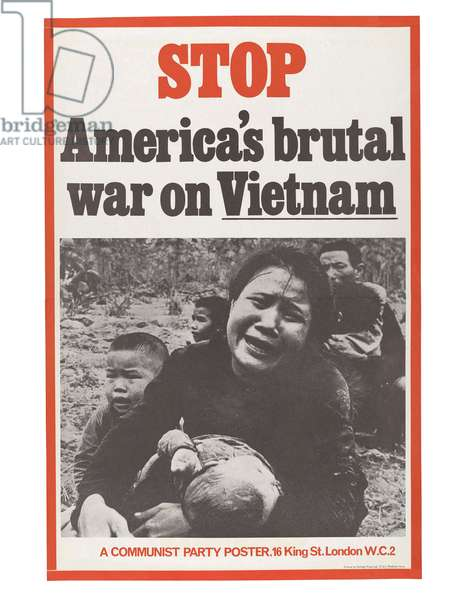 Stop America's brutal war on Vietnam, c.1970 (colour litho)