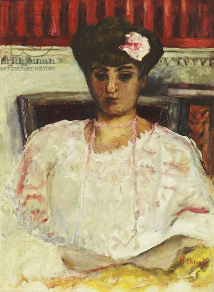 Misia in Pink Blouse; Misia au Corsage Rose,  (oil on canvas)