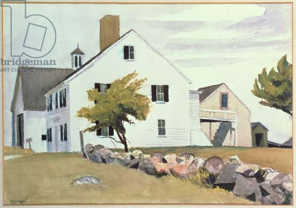 Farm House at Essex, Massachusetts, 1929 (w/c on paper)