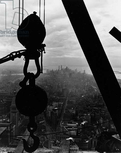 View of Lower Manhattan from the Empire State Building, 1931 (gelatin silver print)