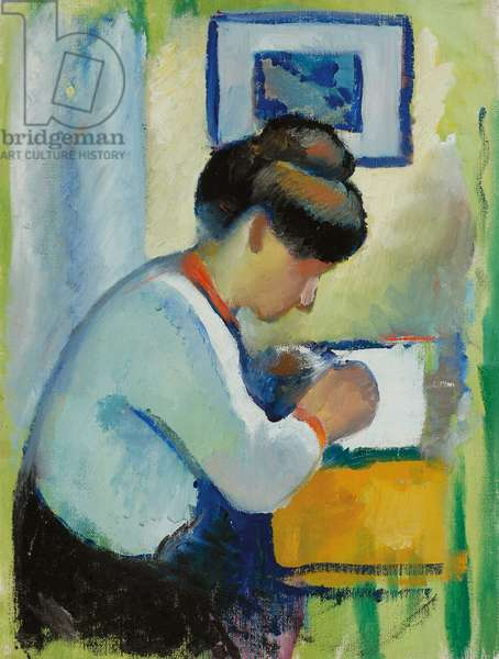Woman Writing, 1910 (oil on canvas)